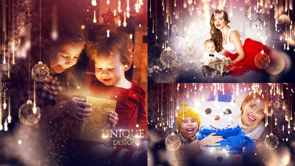 Beautiful Christmas Slideshow with Magical Transitions