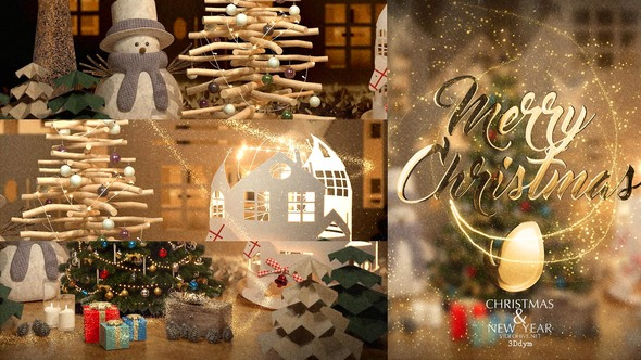 Christmas After Effects Creative Lighting Up Greeting Video Animation