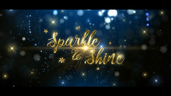 Sparkle & Shine Christmas After Effects Full HD Video With Golden Ribbons of Light