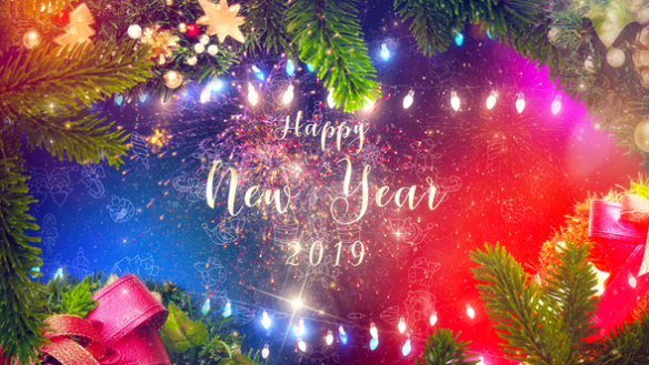 New Year Wishes After Effects Full HD Video Template