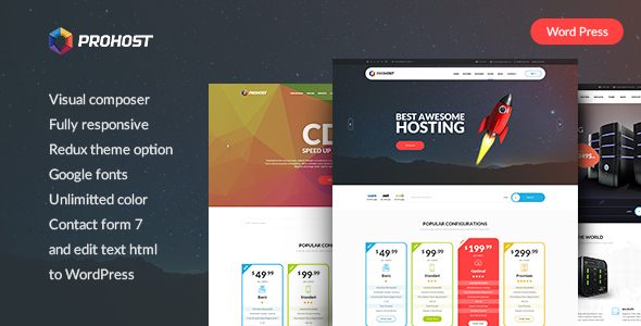 ProHost - Power Pack Hosting WordPress Theme