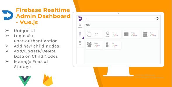 Firebase Realtime Admin Dashboard - Vue.js