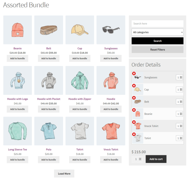 WooCommerce Mix & Match - Assorted Product Bundles Plugin - 2