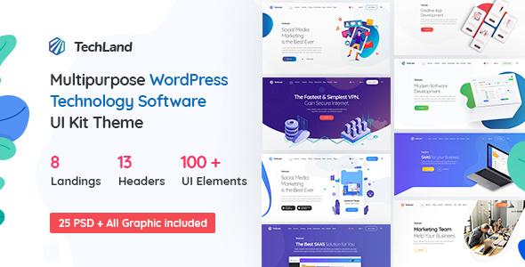 Techland - WordPress Saas Startup Theme