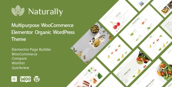 Naturally - Organic Food Elementor WooCommerce Theme