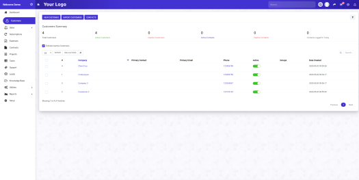 Ultimate Purple Theme for Perfex CRM