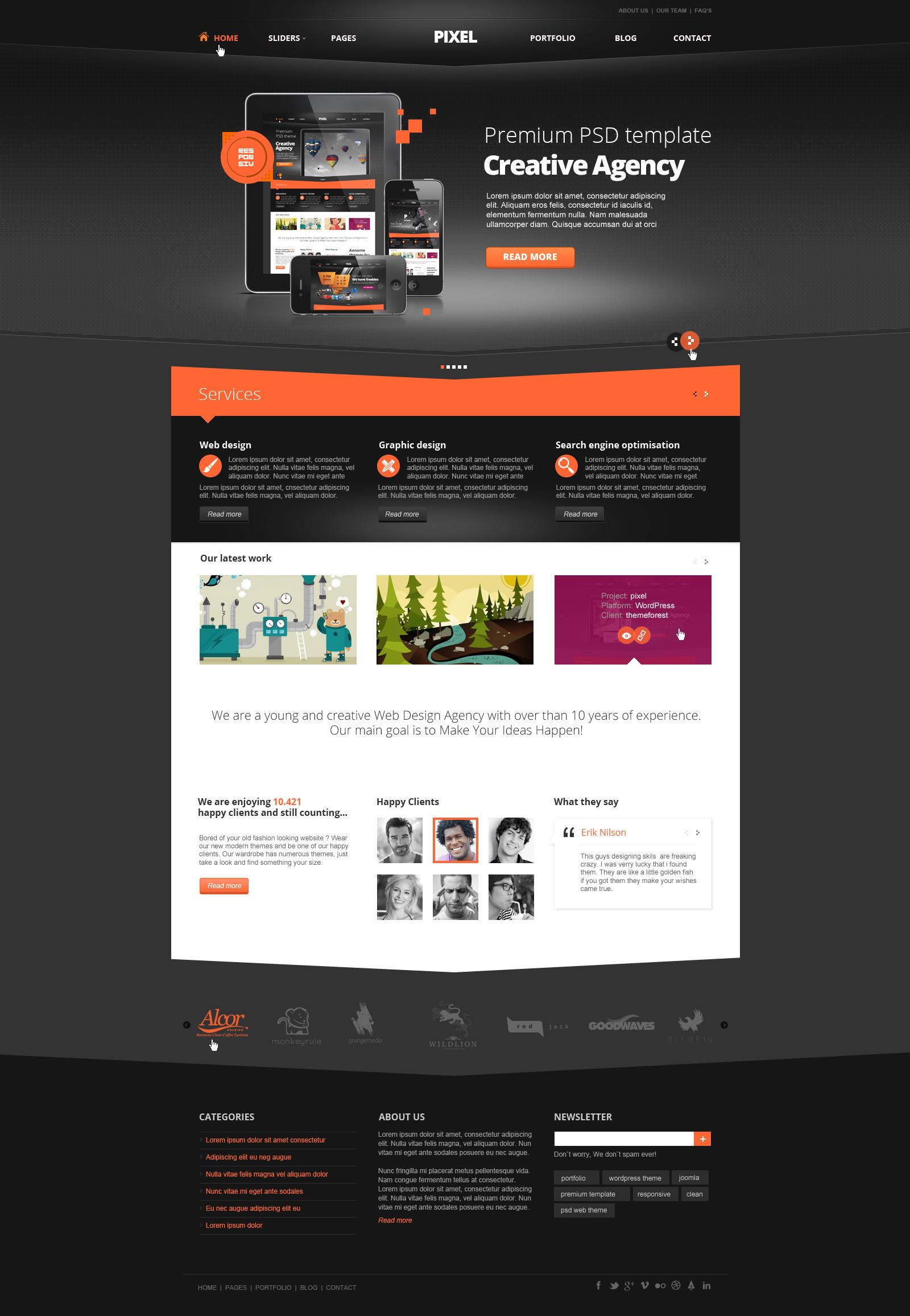 Pixel Studio Premium Website Template