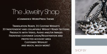The Jewelry Shop - WordPress eCommerce - ThemeForest Item for Sale