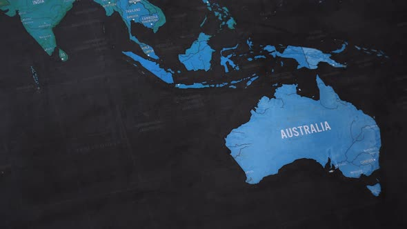 Australia World Map by FootageStock   VideoHive Play preview video