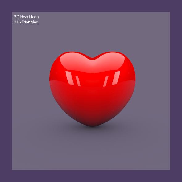 3D Heart Icon By Lgtaegi 3DOcean
