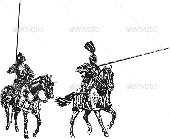 Two Knights On Horses By Copceaclg