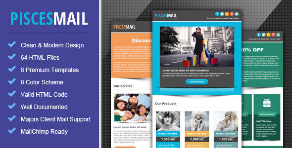 Piscesmail Email Newsletter Template