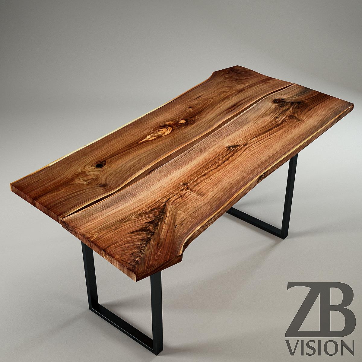 wood slab table by ign design switzerland