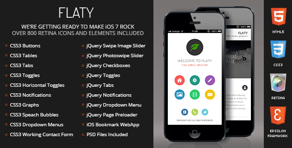 Flaty | Creative Navigation for Mobile & Tablets - 8