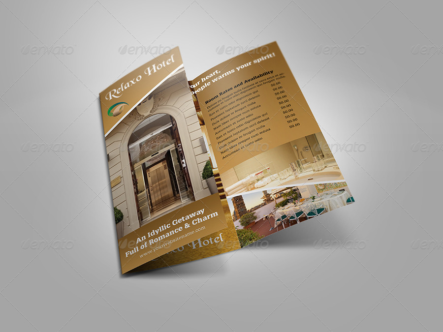 Hotel And Motel Tri Fold Brochure Template By OWPictures GraphicRiver