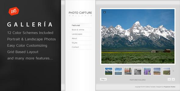 Galleria - Photography and Portfolio Template