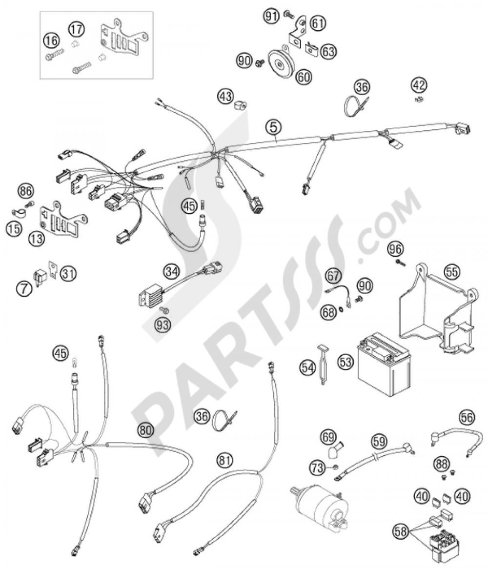 Wiring harness ktm 525 exc factory racing 2007 eu 2013 ktm 525 xc ktm 525 wiring harness