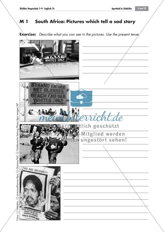 Apartheid South Africa Brainstorming Worksheets And