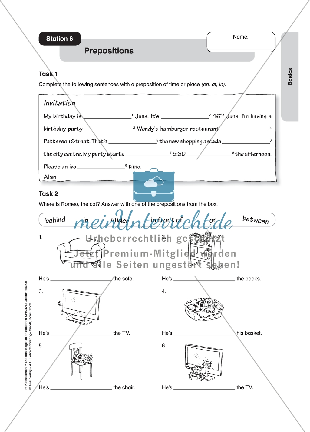 Prepositions Worksheet With Solution