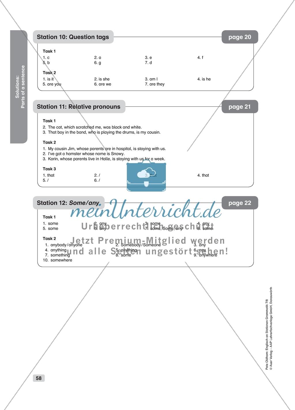 Grammar Relative Pronouns Worksheet And Solution