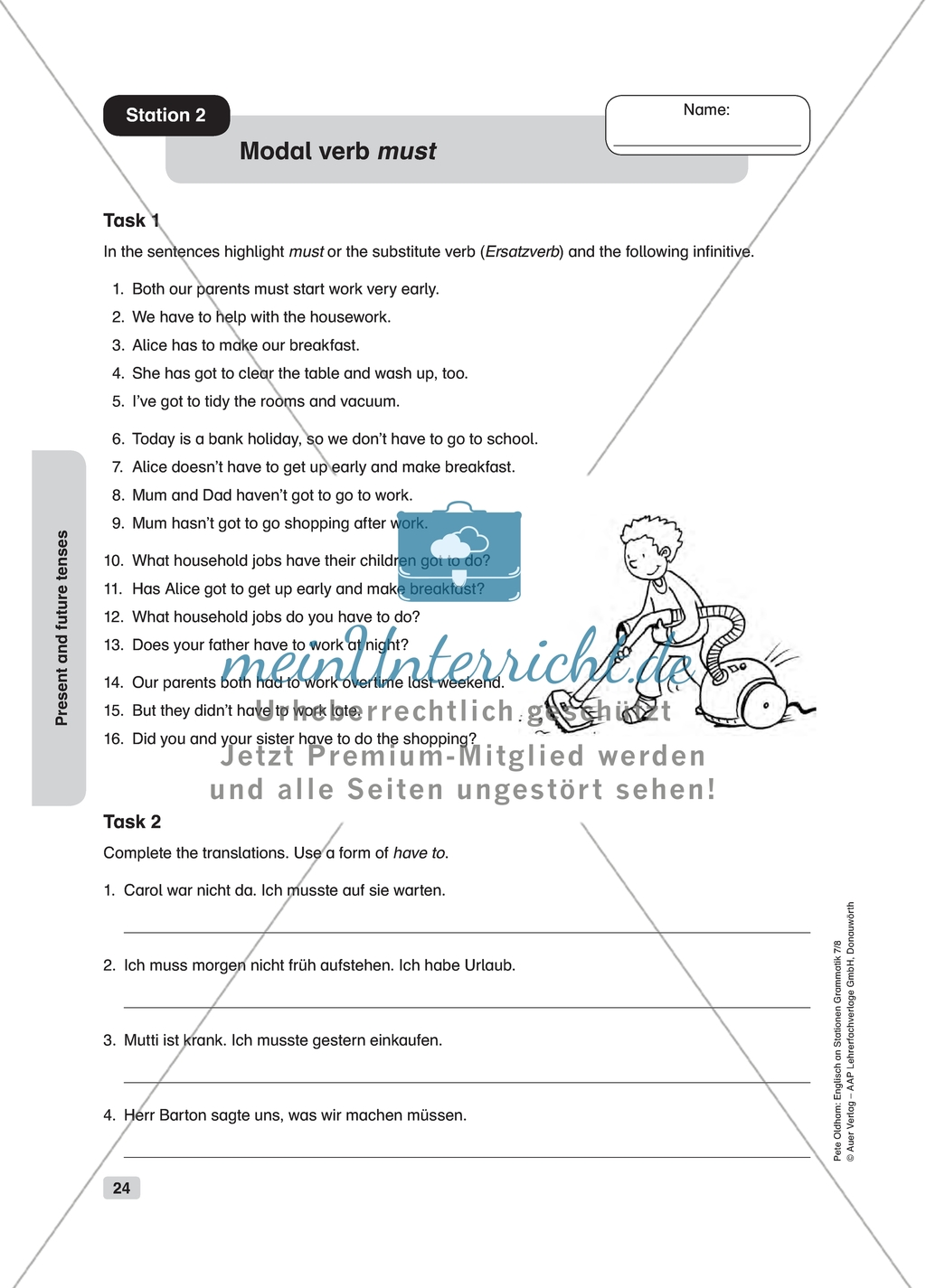 Grammar Modal Verbs Worksheet And Solution