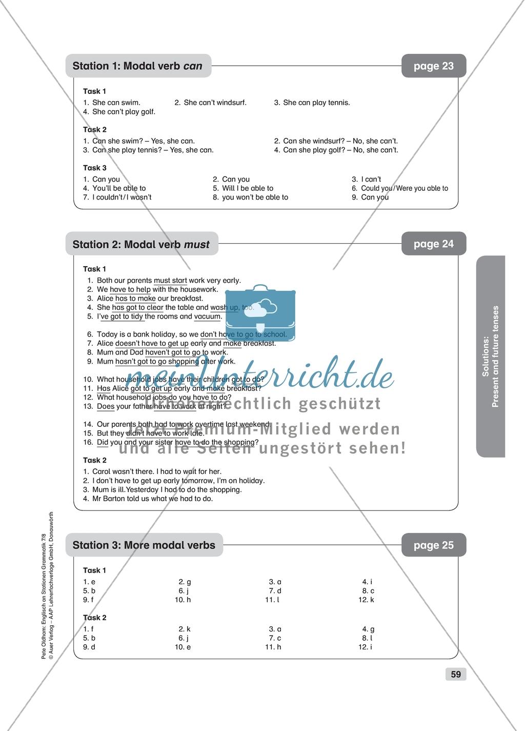 Grammar Modal Verbs Worksheet And Solution