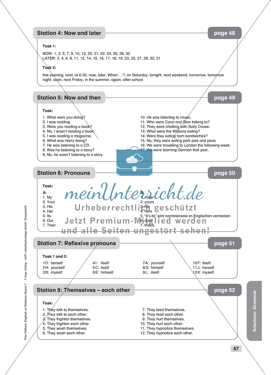 Grammar Now And Then Worksheet And Solution
