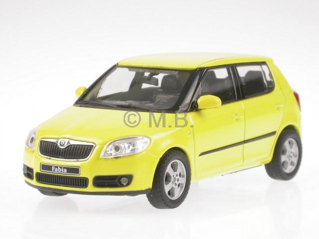 Details About Skoda Fabia Ii Yellow Diecast Model Car Abrex 143