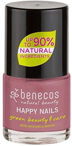 BENECOS - Smalto Rosa Nude - Delicato - Biotina e Avocado - Senza formaldeidi dannosi o colofonia - Senza toluene, ftalati e canfora - Vegan - 9ml - 1