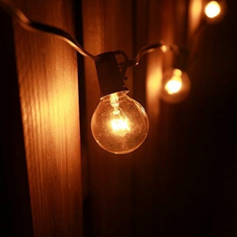 Catene Luminose,Tomshine Illuminazione Giardino Luci Stringa Lampadina con 25 G40 Bulbi - 1