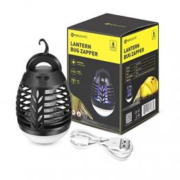 Lampada Anti-zanzara Lanterna Campeggio Lampada da Tenda Killer Elettronica Trappola Per Mosche Insetto Repellente Zapper Zanzare USB batteria 2500mAh per Trekking, Pesca, Tenda - 1