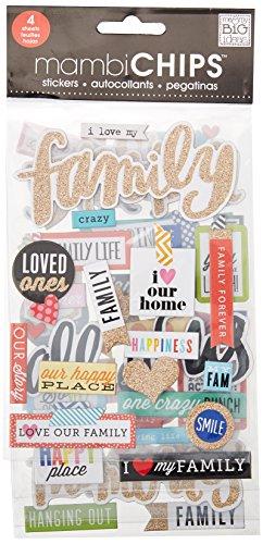 Me & My Big Ideas-Set di Fogli, Motivo: I Love My Family - 1