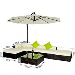 Outsunny Set Mobili da Giardino in Rattan Set Lounge Salotto Telaio in Alluminio 18pz - 1