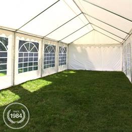 TOOLPORT Tendone per Feste 4x8 m PVC Beige-Bianco 100% Impermeabile Gazebo da Giardino Tendone da Esterno Tenda Party - 1