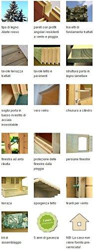 ITALFROM Box Casette di Legno Casetta da Giardino in Legno d'Abete34mm mq10,4 ITALFROM111 [cod.5767] - 4