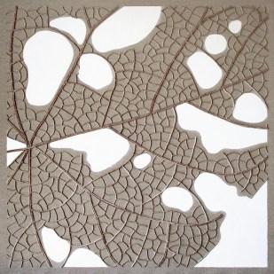 n°10, 2018 - spago, stucco e acrilico su tela grezza - 70 x 70 cm