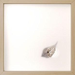 oltre la nebbia 6, 2020 - foglia vera su carta e foglio traslucido forato - 25 x 25 cm