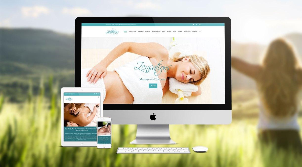 New Website Design for Zensations
