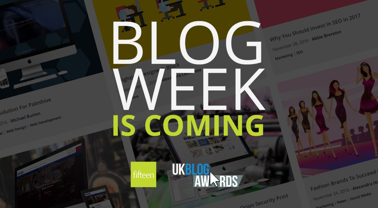 Blog Week Is Coming!