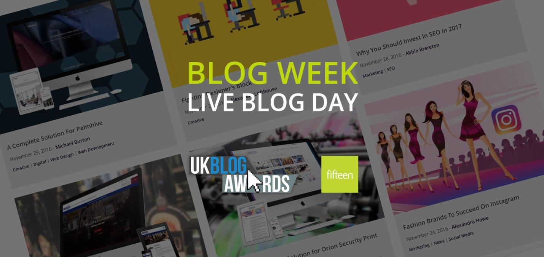 Fifteen Friday – Live Blogging!