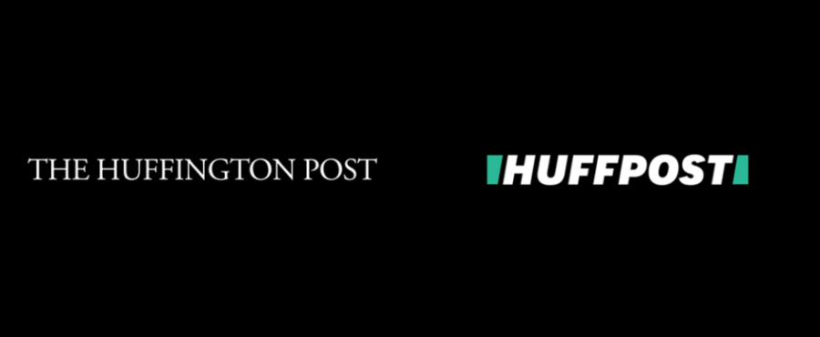 Huffington Post logo before and after