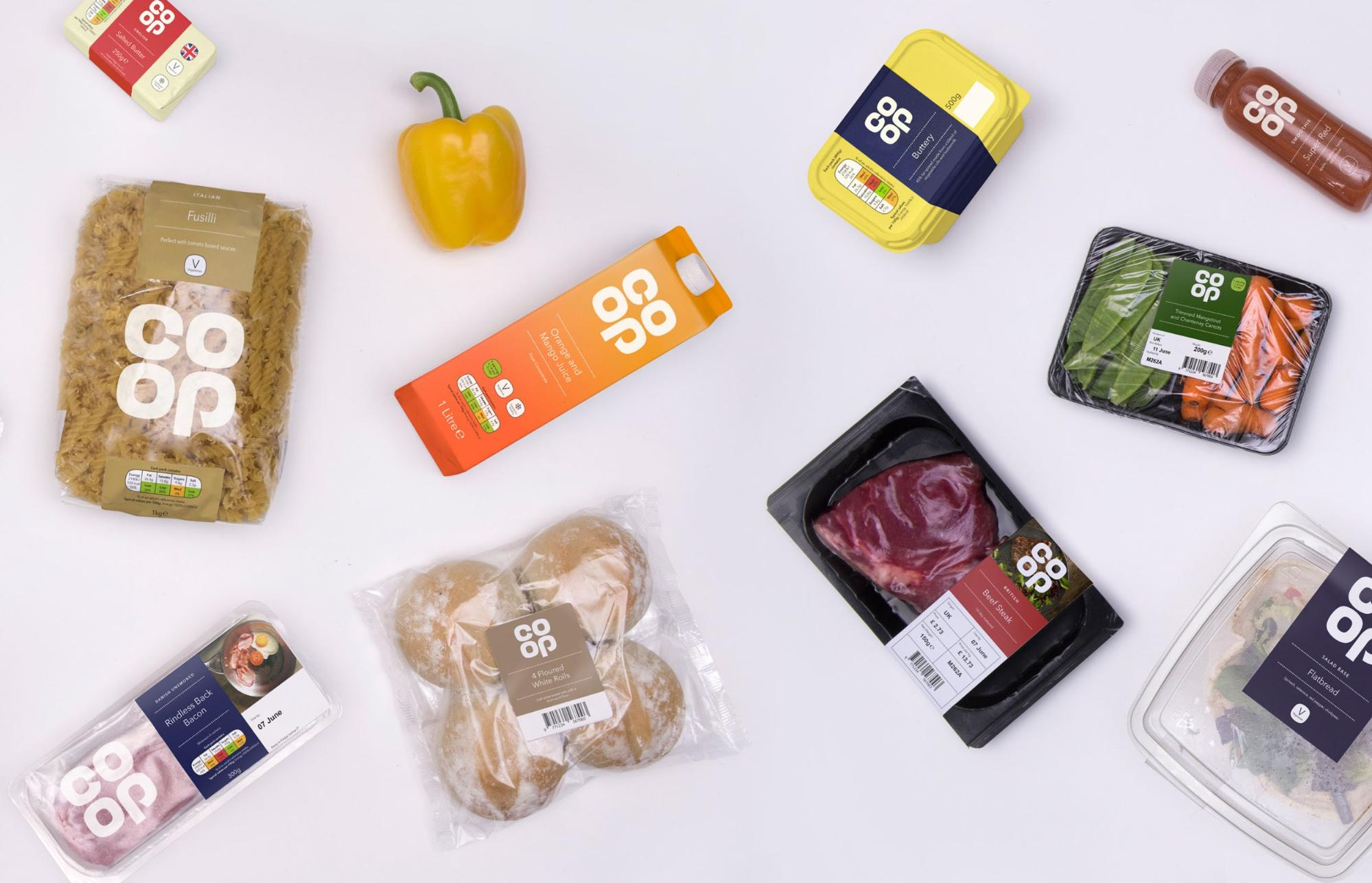 Co Op logo designs on products