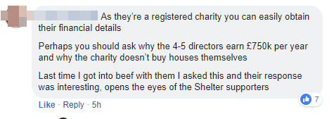 As they're a registered charity, you can easily obtain their financial statements. The 5 directors earn £750'000 per year. Why can't they buy houses and help the benefit tenants themselves?