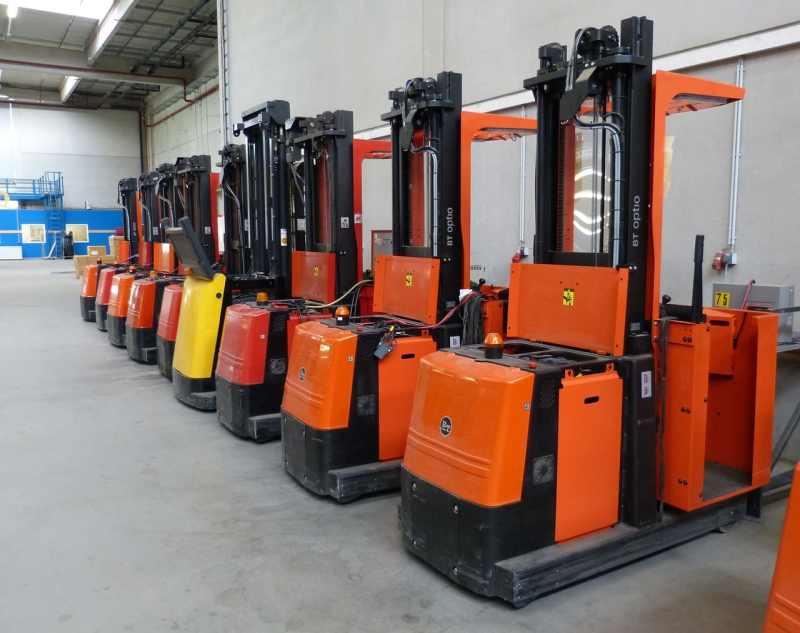 Forklift Trucks ready for training