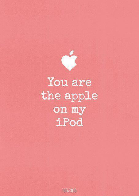 apple, ipod, love, phrase, sweet