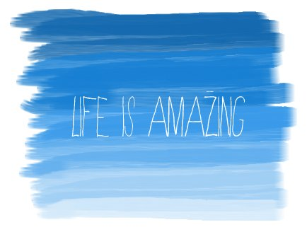 amazing, blue, cool, life, quote