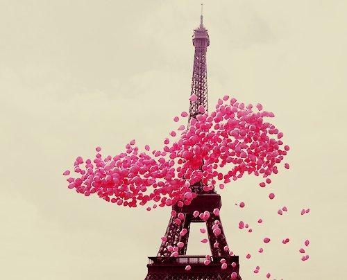 ballons, cute, eiffel tower, paris, photography