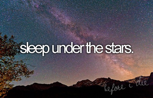bucket list, night, stars