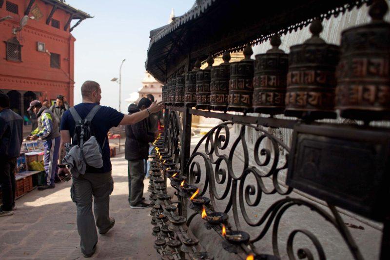 Катманду, столица Непала, ступа Сваямбунатх
