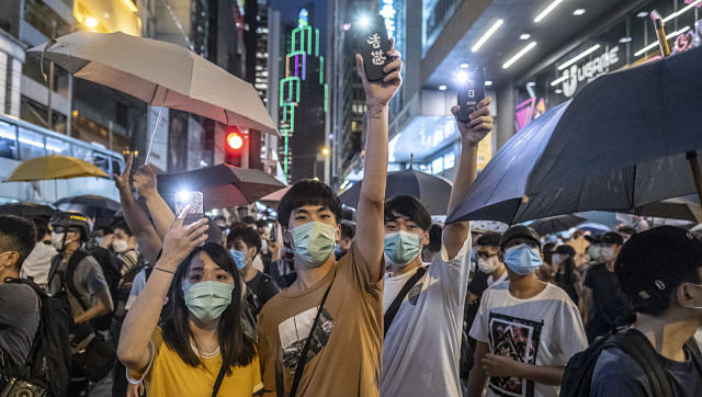 File image of a protest in Hong Kong. By Lam Yik Fei © 2020 The New York Times